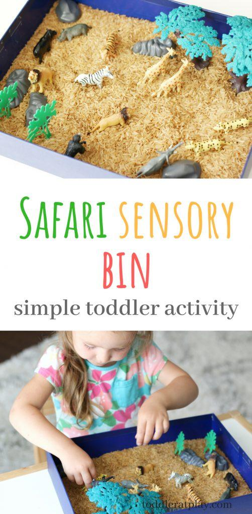 safari sensory bin activity