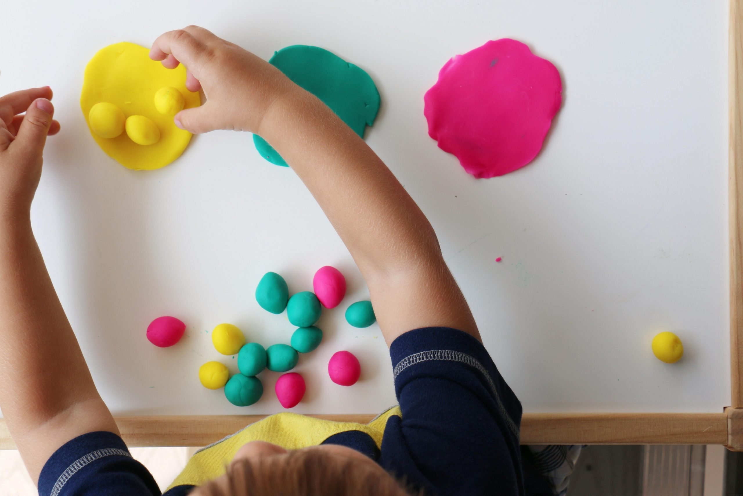 Play-Dough Color Sorting