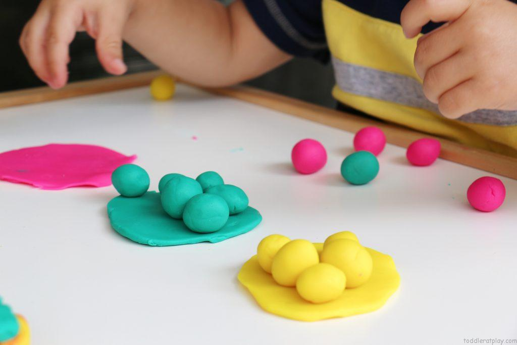 play dough sorting