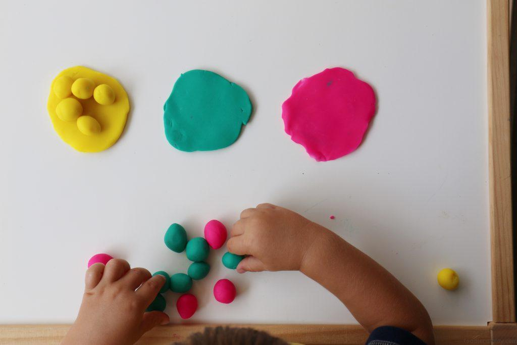 playdough sorting