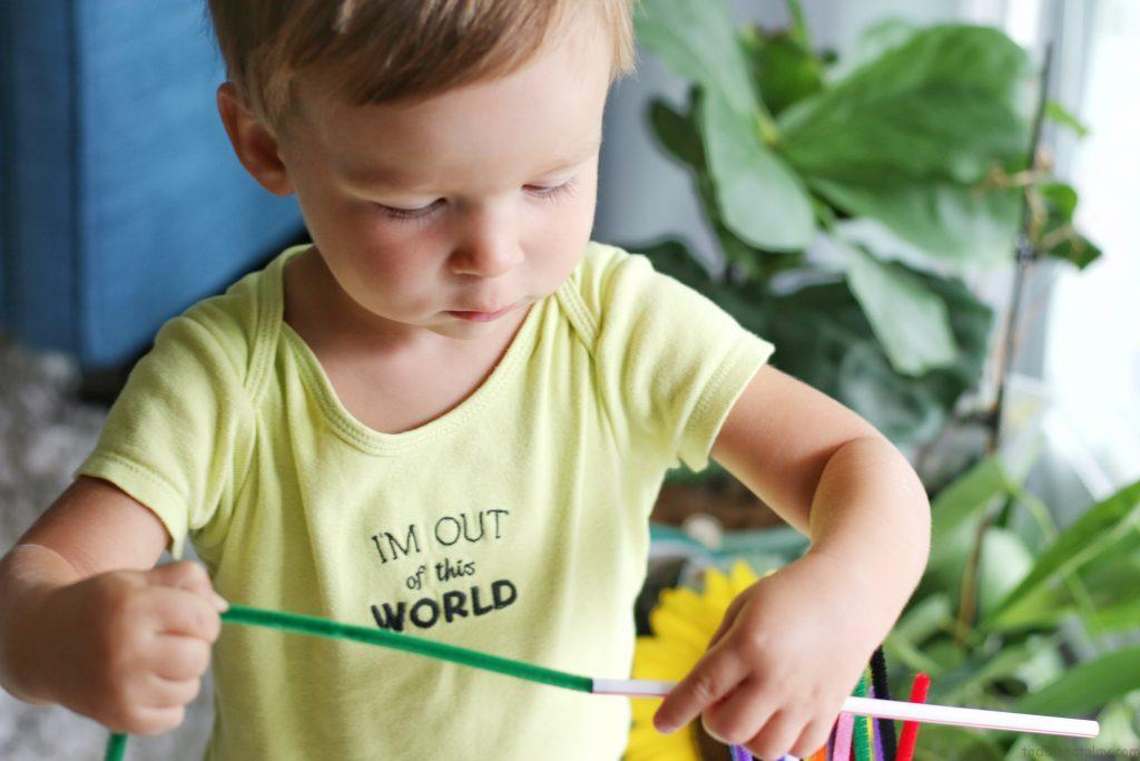 pipecleaner and straws activity