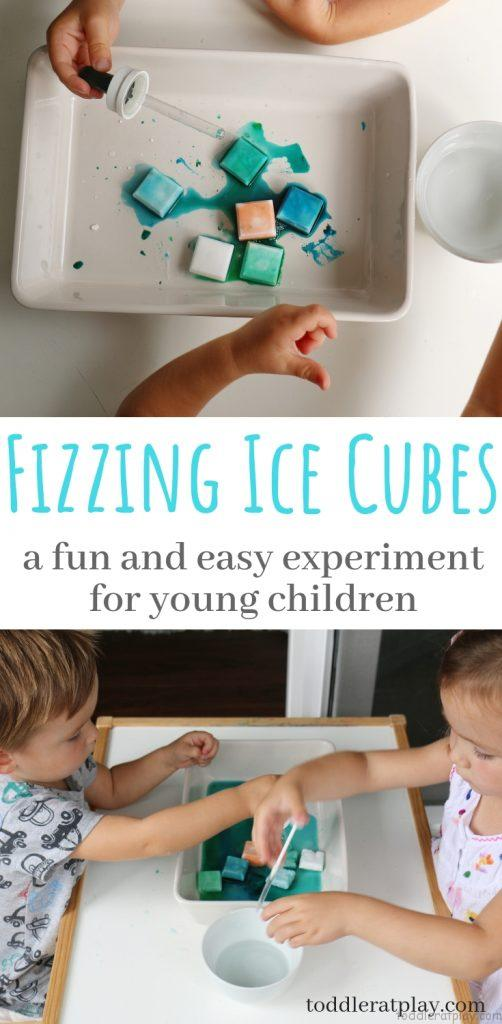 fizzing ice cubes