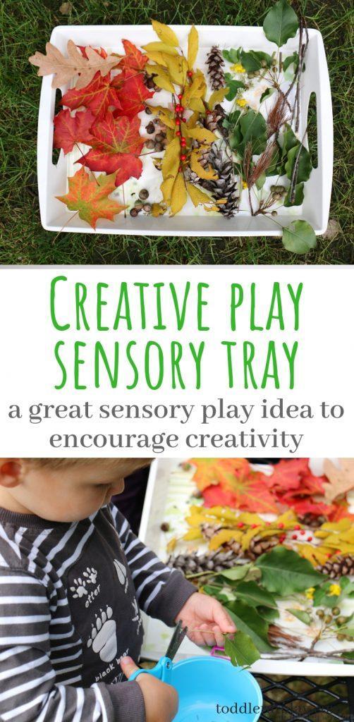 creative play sensory tray