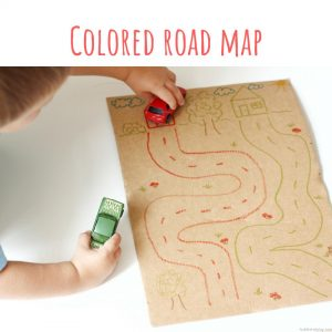 colored road map