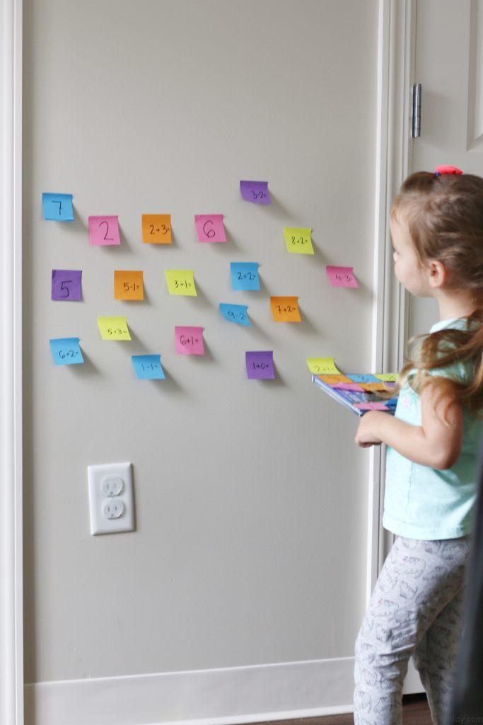 post it math activity