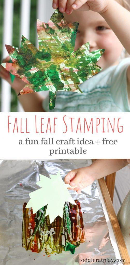 fall leaf stamping