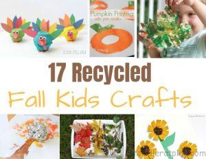 recycled fall kids crafts