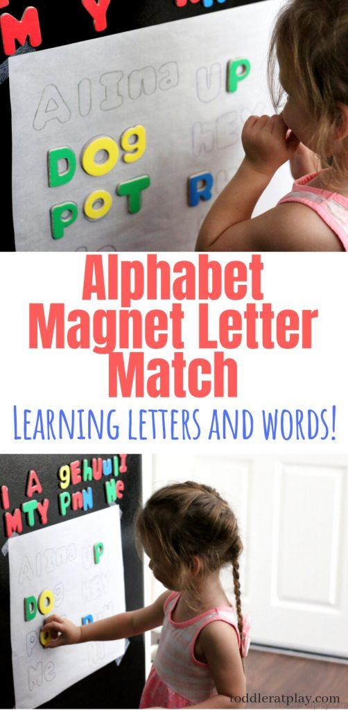 alphabet magnet game