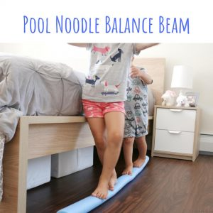 pool nood balance beam