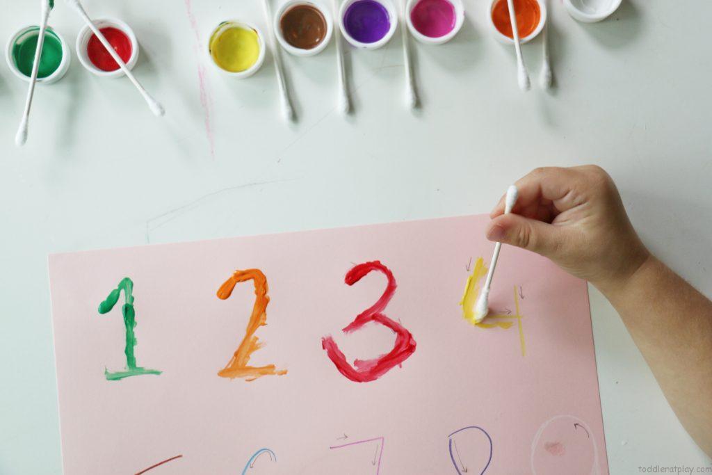 qtip number tracing