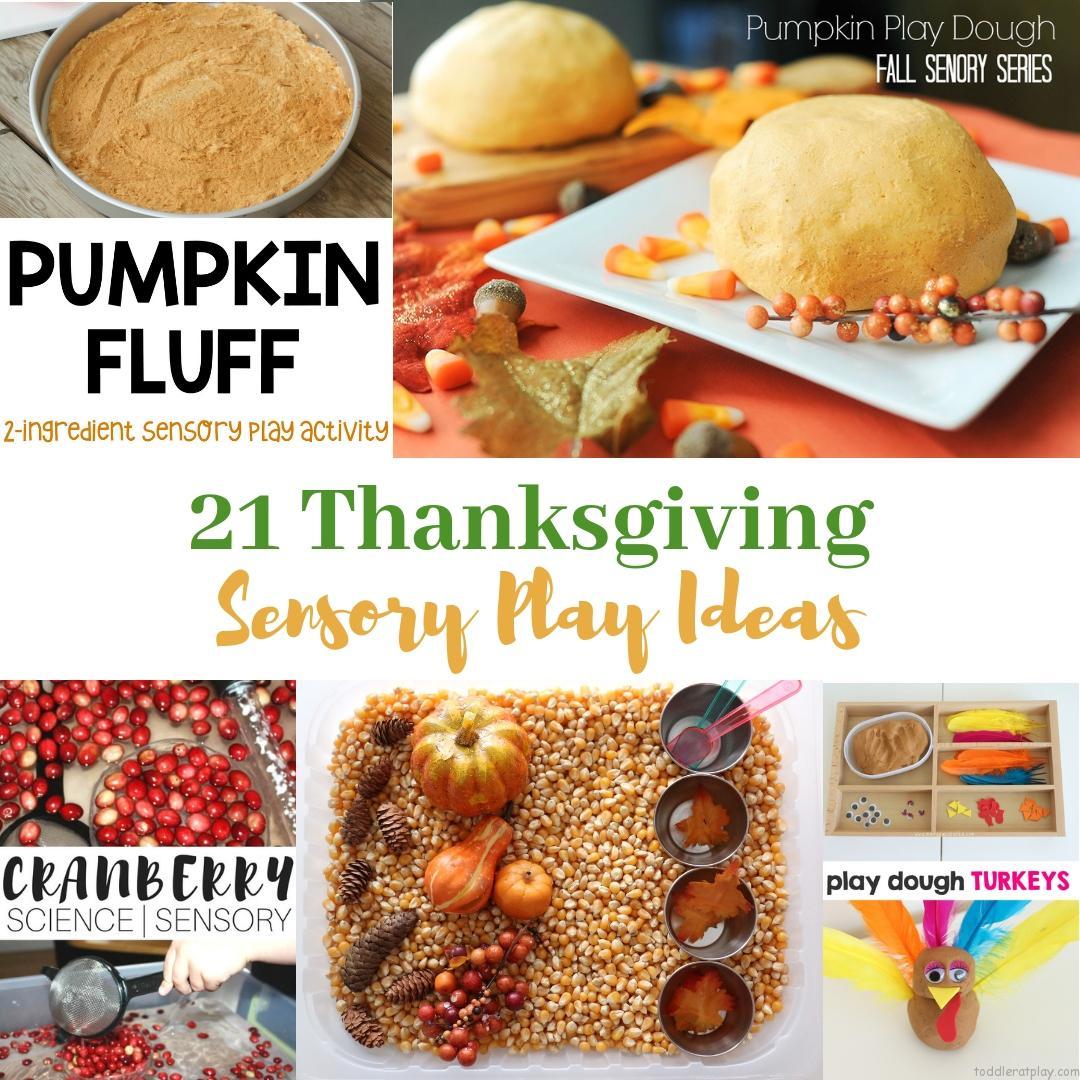 21 Thanksgiving Sensory Play Ideas
