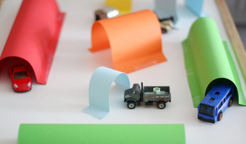 cardstock tunnels
