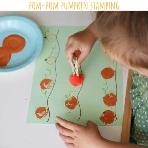pom pom stamping craft
