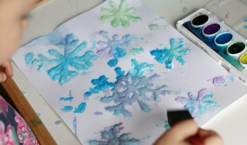 salt snowflakes