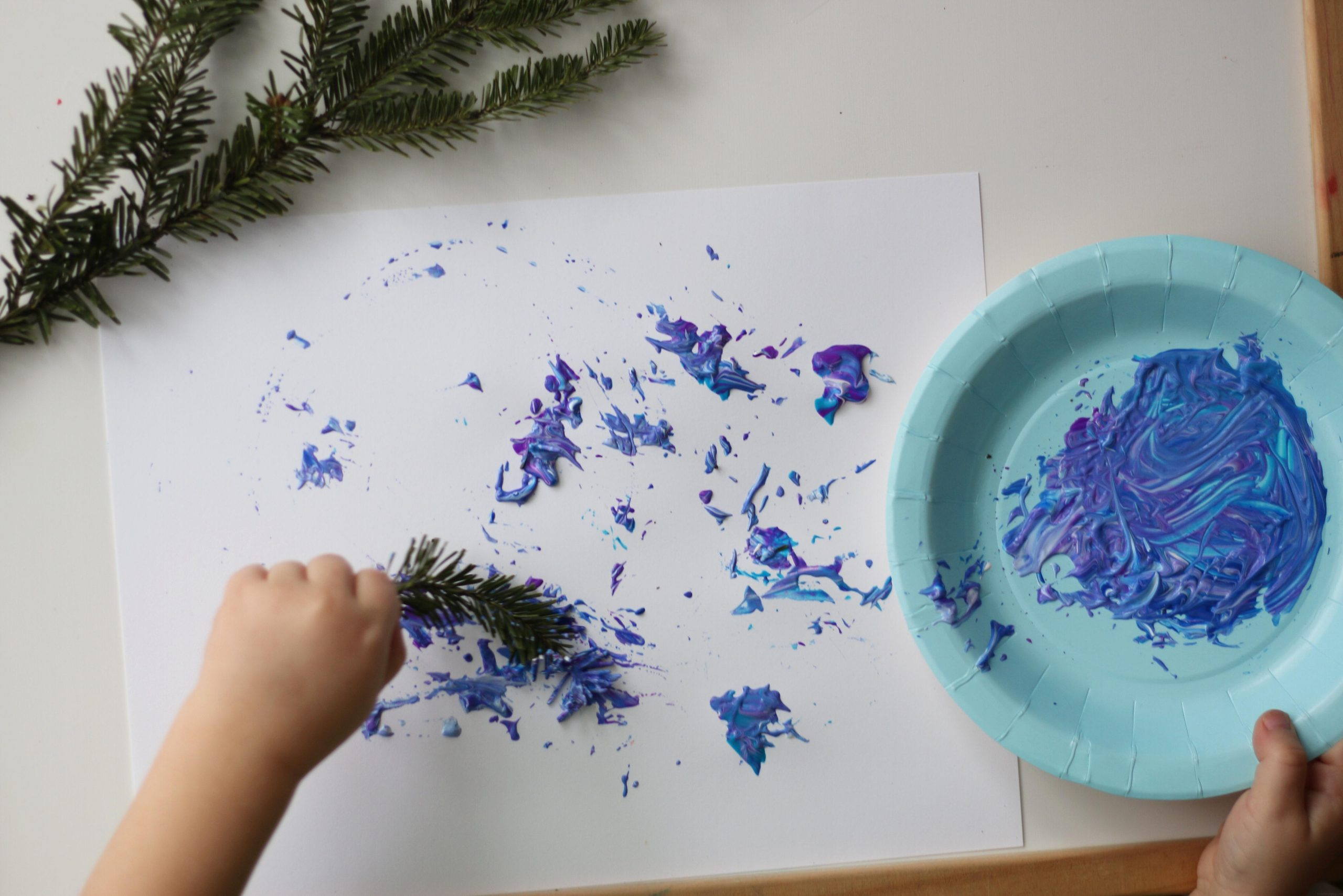 Christmas Tree Branch Painting