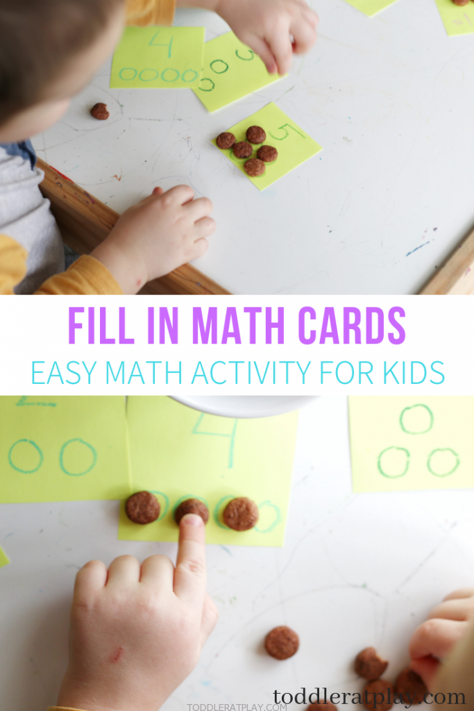 fill in math cards