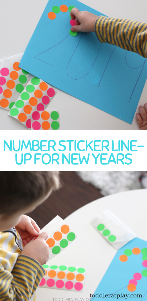 number sticker line-up