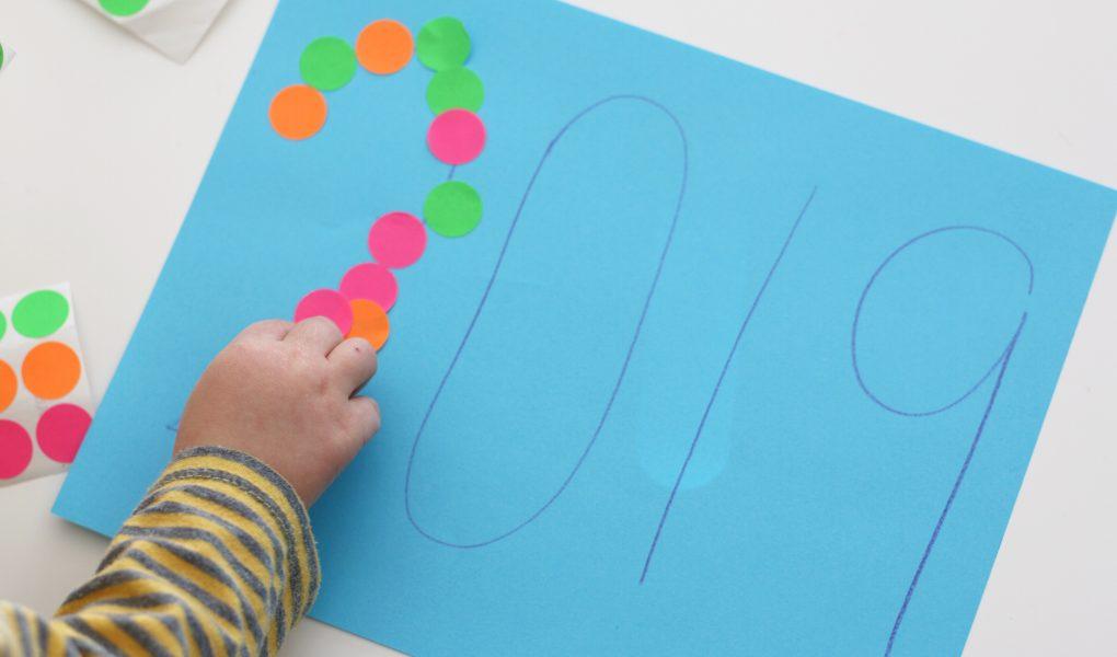 number sticker line up