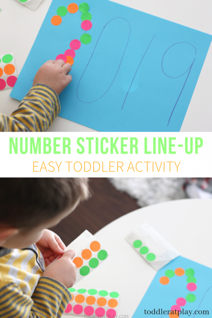 number sticker line up