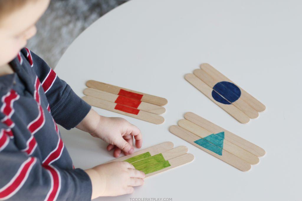 popsicle stick shape puzzles
