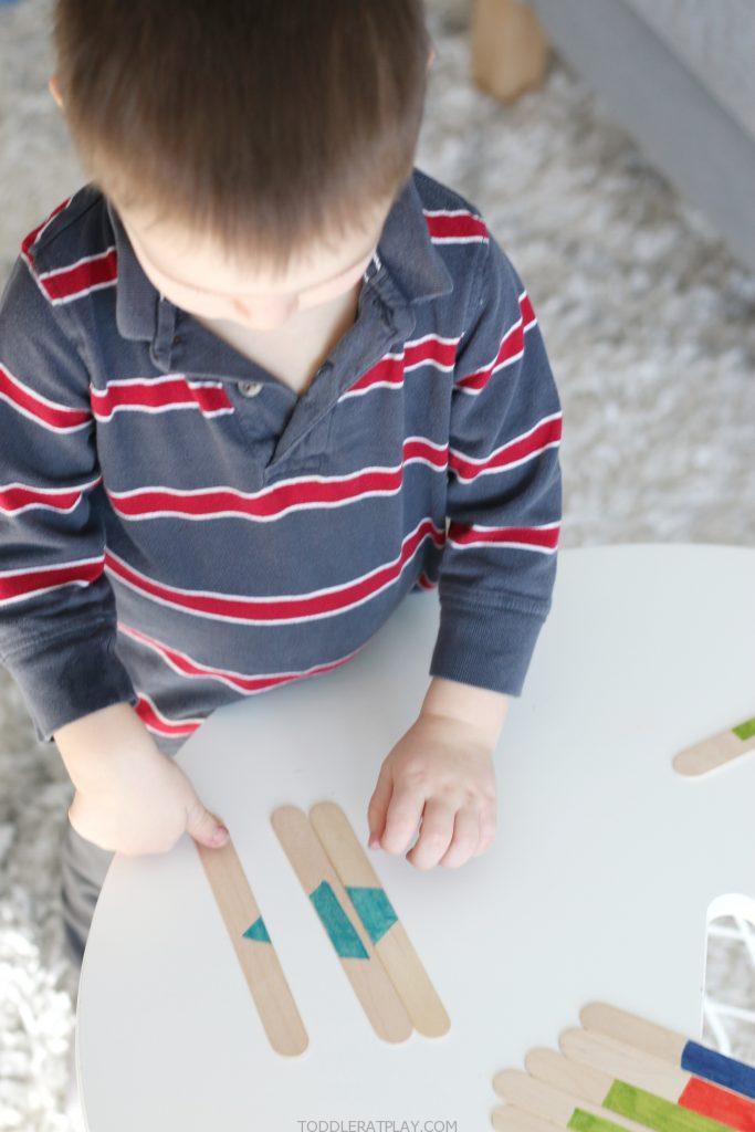 popsicle stick shape match puzzles