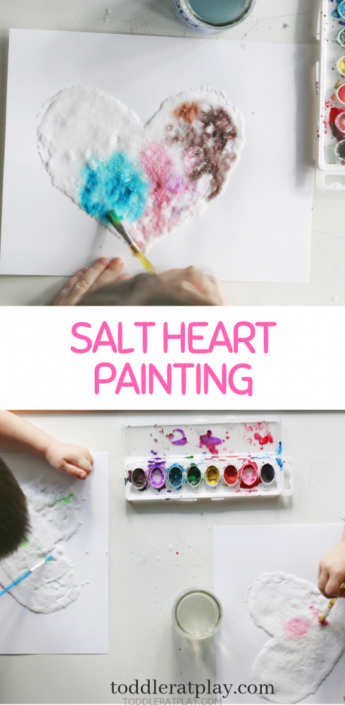 salt heart painting