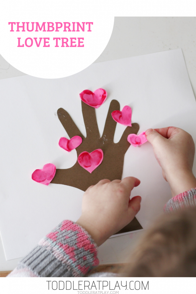 thumbprint love tree craft