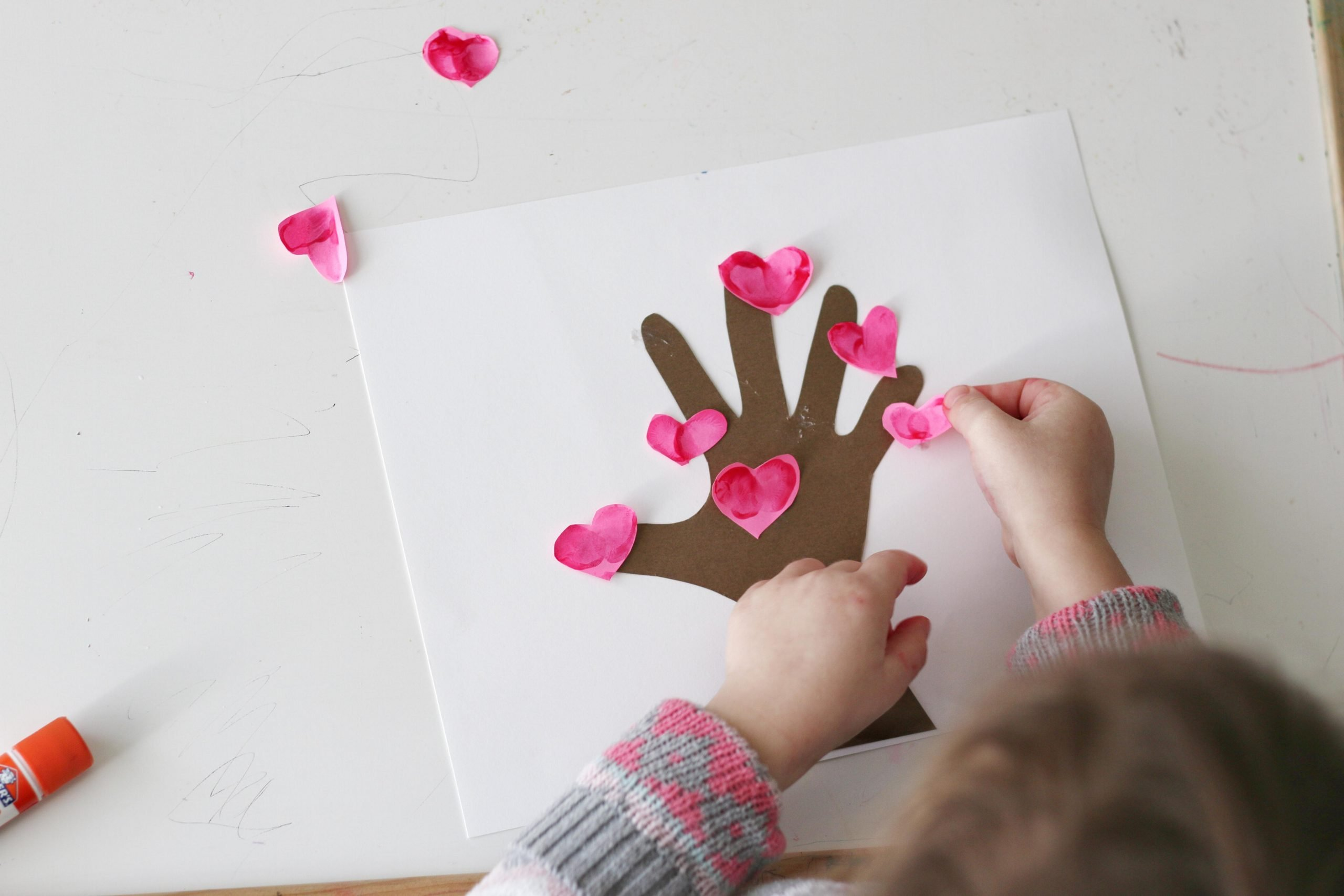 Thumbprint Love Tree Valentine's Day Craft