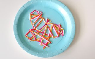 Butterfly Paper Plate Threading- toddler at play (2)