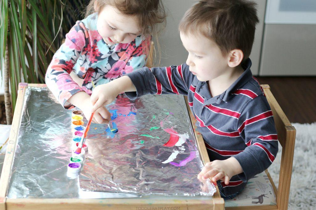 foil painting-toddler at play (3)