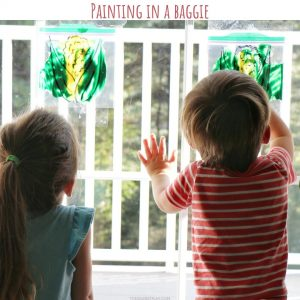 painting in a baggie (2)- toddler at play