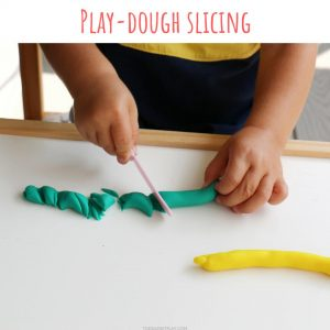 playdough slicing