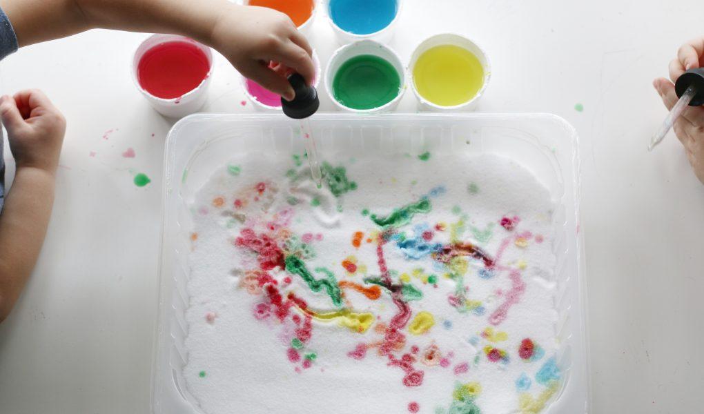 salt painting tray