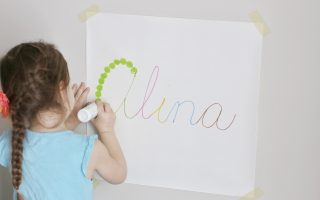 cursive name dot painting- toddler at play (2)