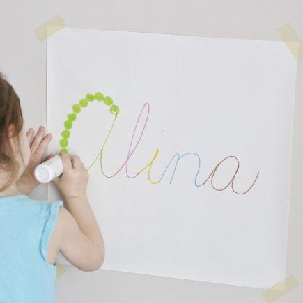 cursive name dot painting- toddler at play (2)