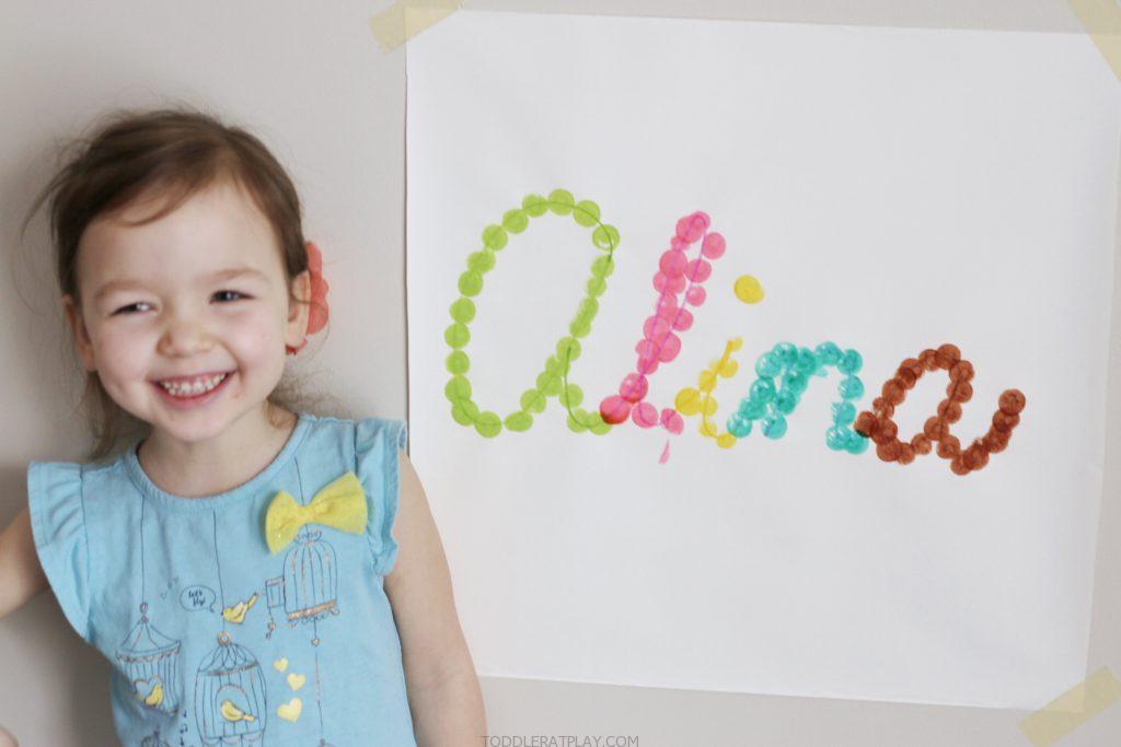 cursive name dot painting- toddler at play (7)