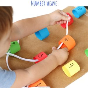 number weave (7)- toddler at play