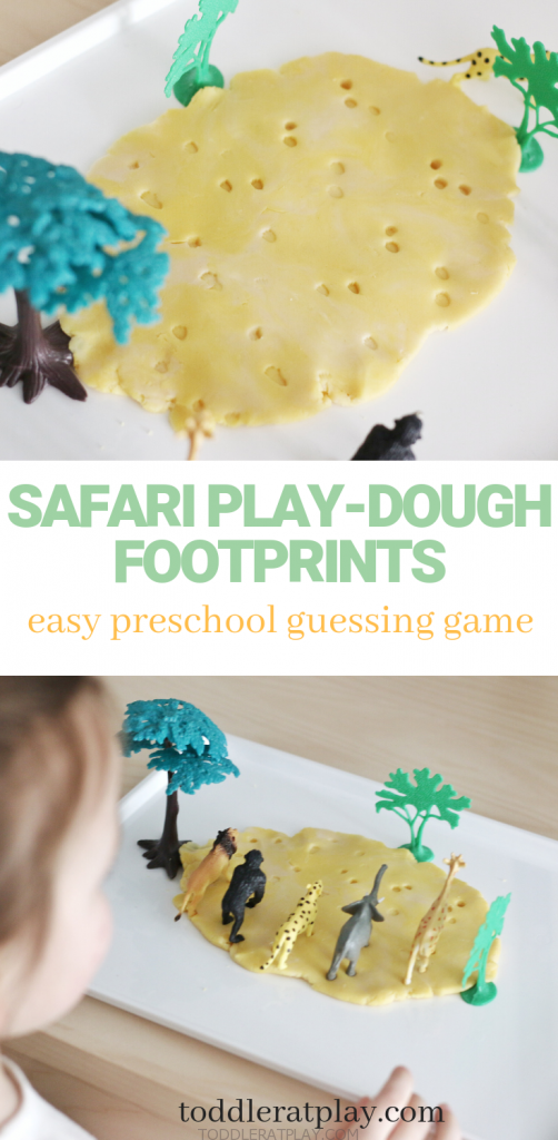 safari play-dough footprints- toddler at play