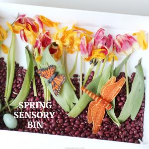 spring sensory bin- toddler at play (3)