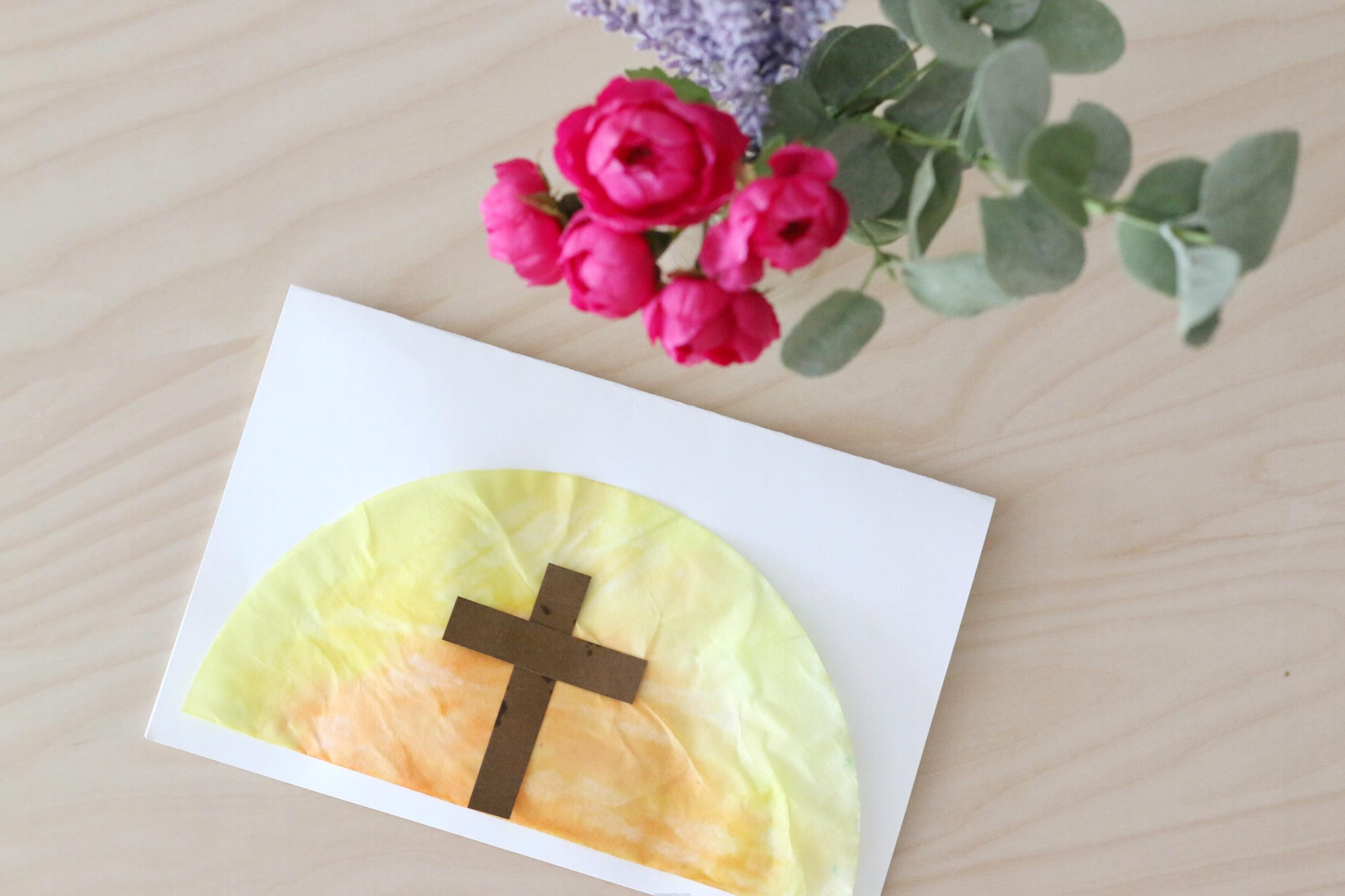 Coffee Filter Easter Sunrise Card (Quick tutorial)