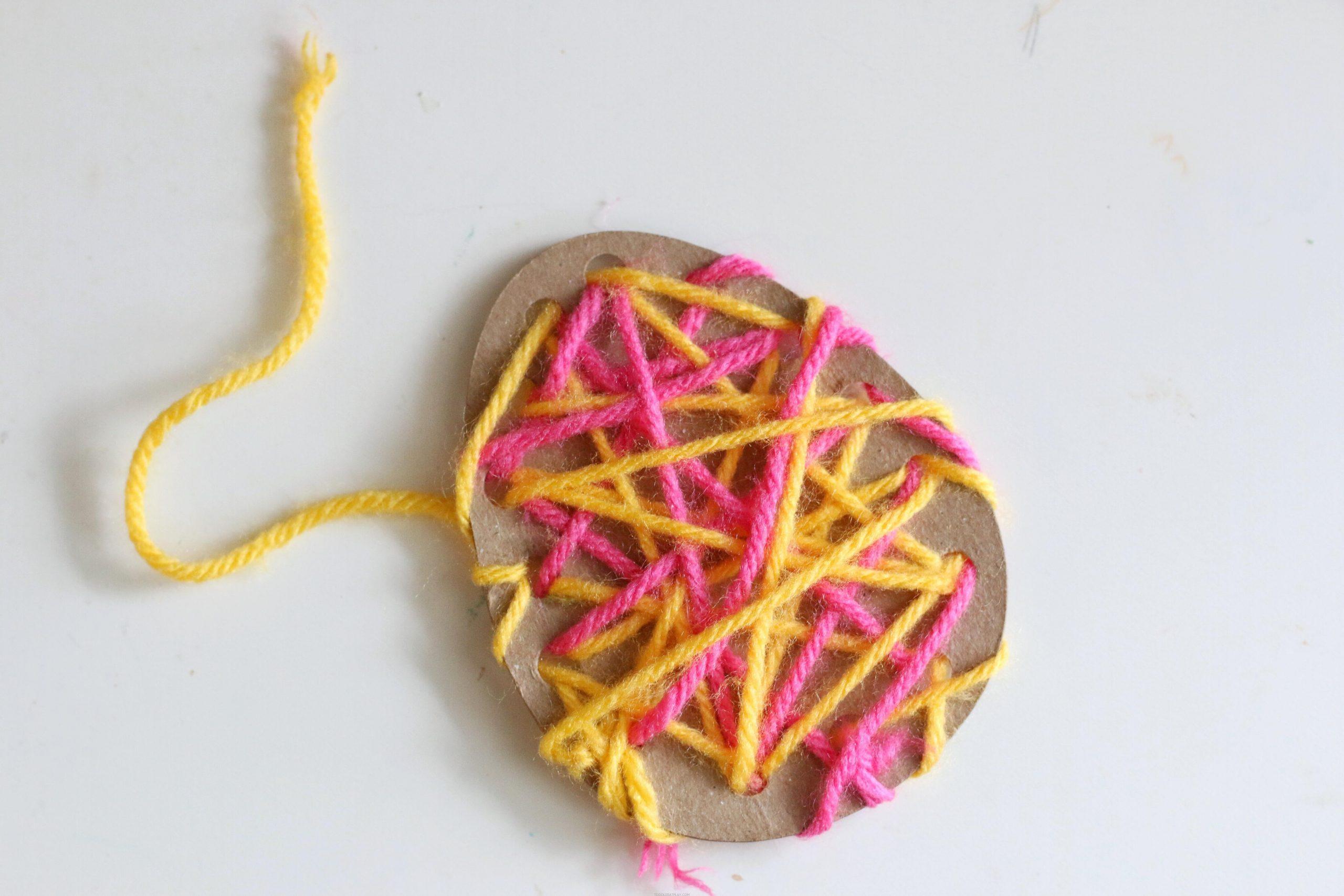 Easter Egg Yarn Threading