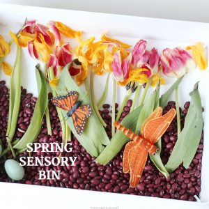 spring sensory bin- toddler at play (3)