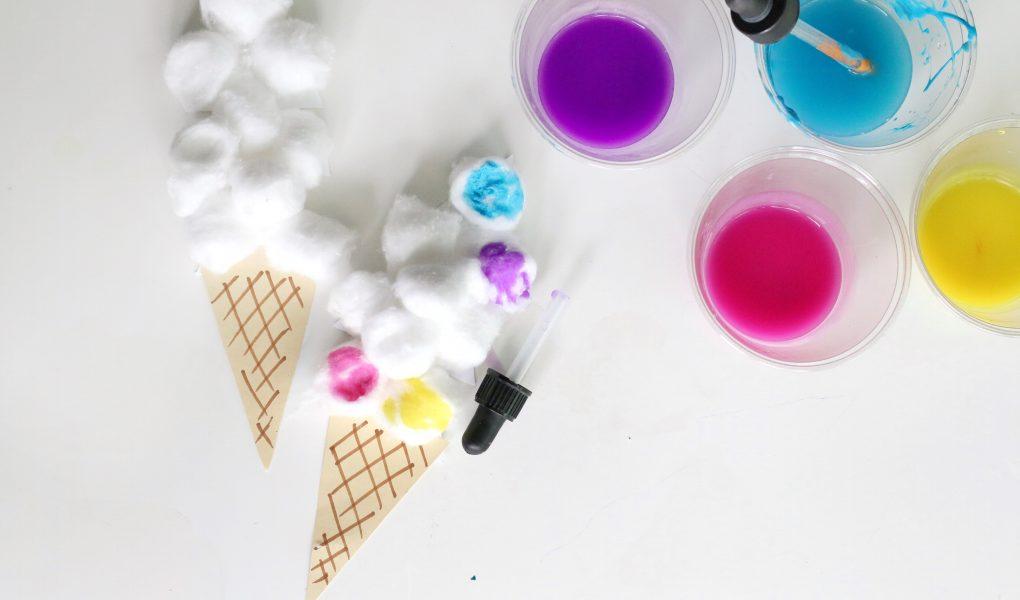 Cotton ball ice cream craft- toddler at play (3)