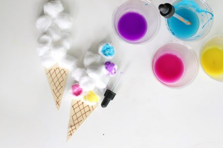 Cotton ball ice cream craft- toddler at play (3)