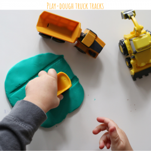 play-dough truck tracks