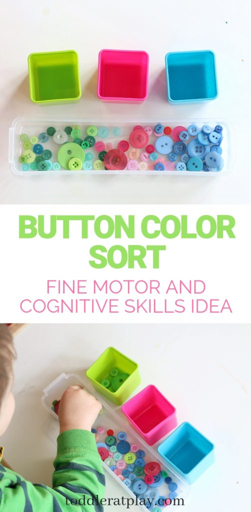 button color sort- toddler at play
