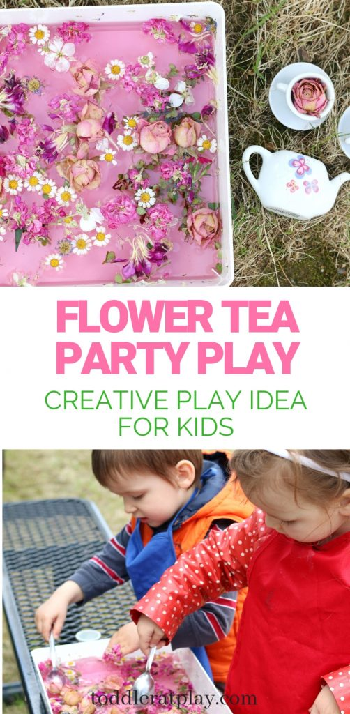 flower tea party play- toddler at play (7)