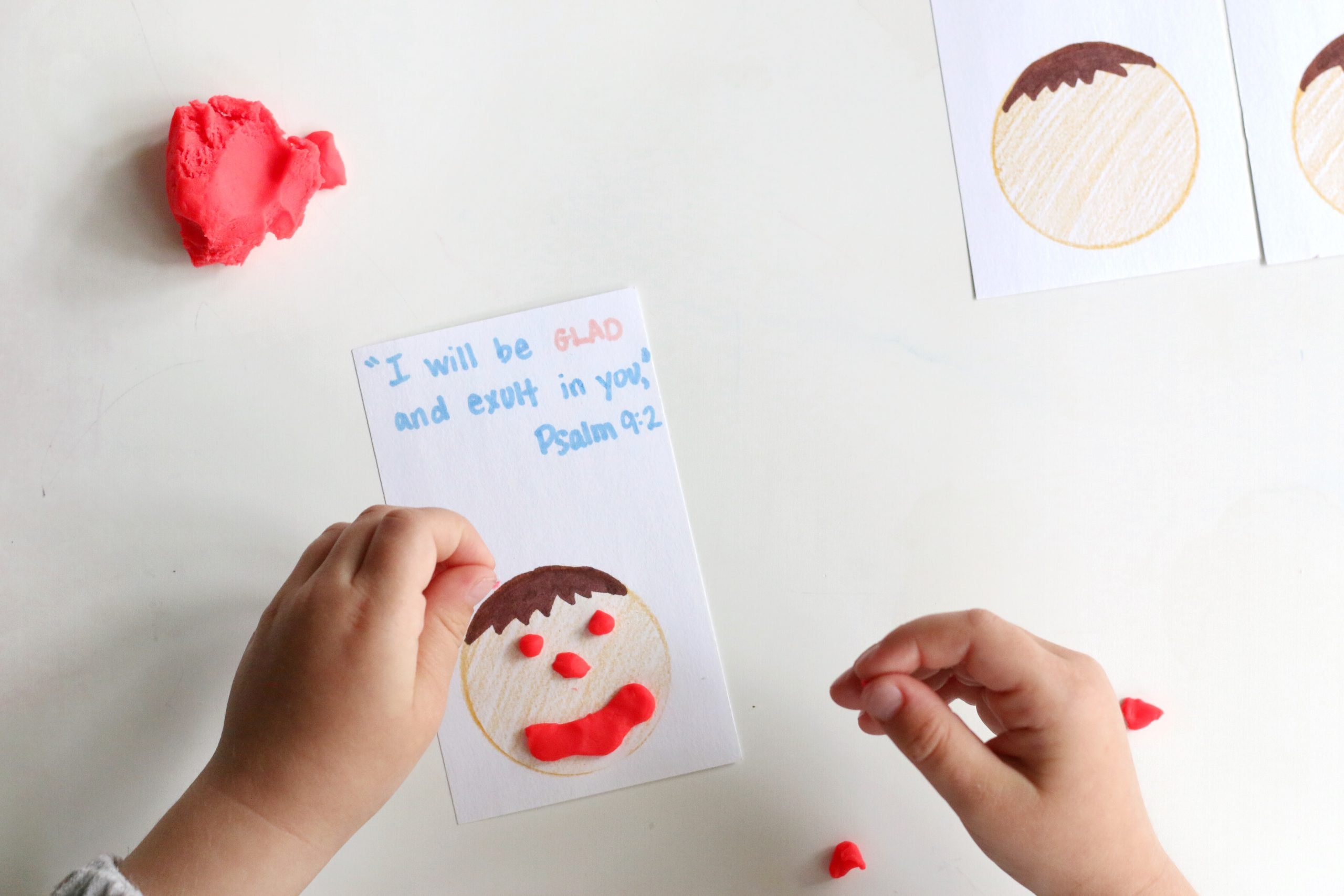 Play-dough Emotion Cards with Bible Verses