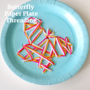 Butterfly Paper Plate Threading- toddler at play (1)