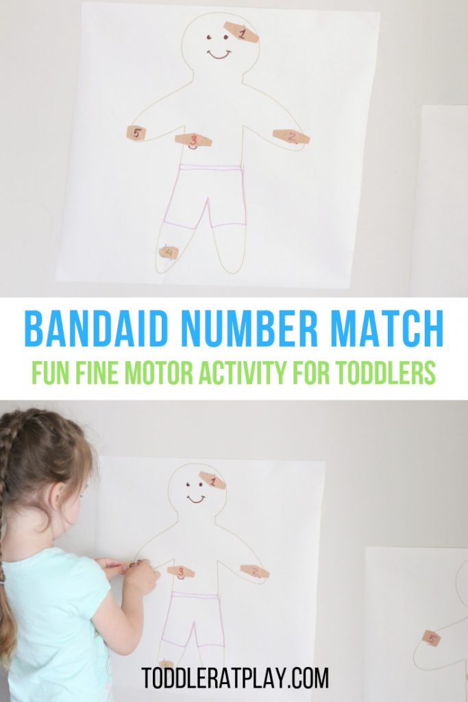 bandaid number match- toddler at play (9)
